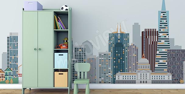 Fototapeta minimalistyczne miasto