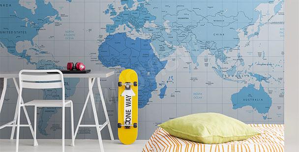 Fototapeta do pokoju młodzieżowego mapa