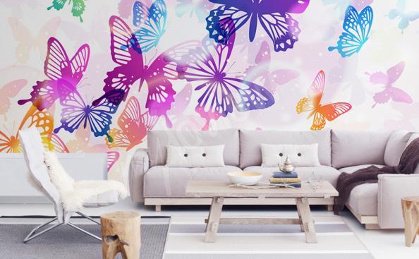 Fototapeta motyle kolorowe