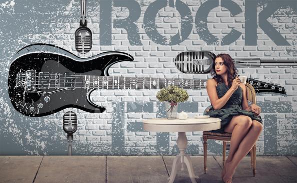 Fototapeta motyw rockowy do klubu