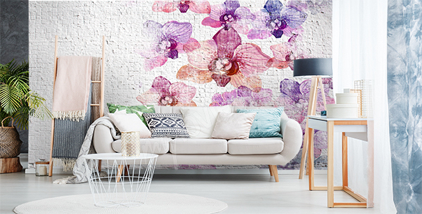Fototapeta mur z kwiatami