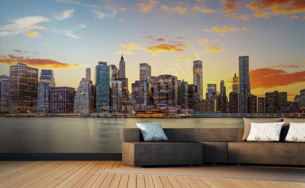 Fototapeta New York o wschodzie słońca
