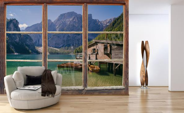 Fototapeta okno z widokiem