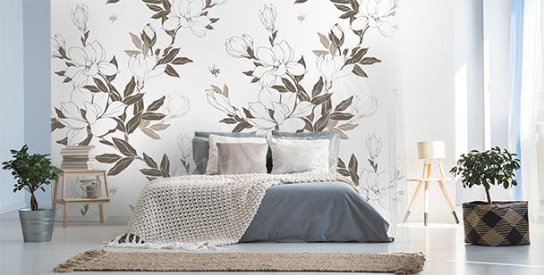 Fototapeta płatki magnolii