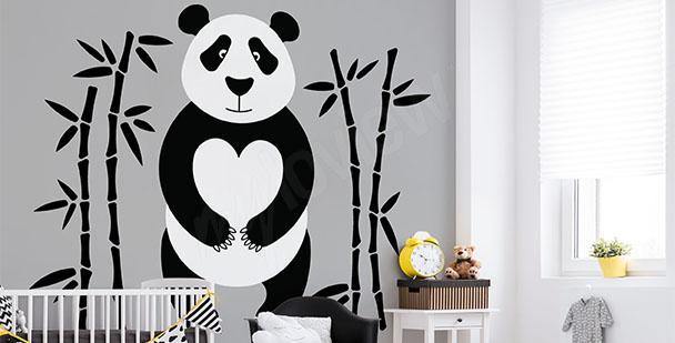 Fototapeta panda minimalizm