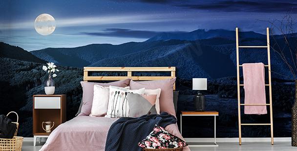 Fototapeta panorama gór nocą
