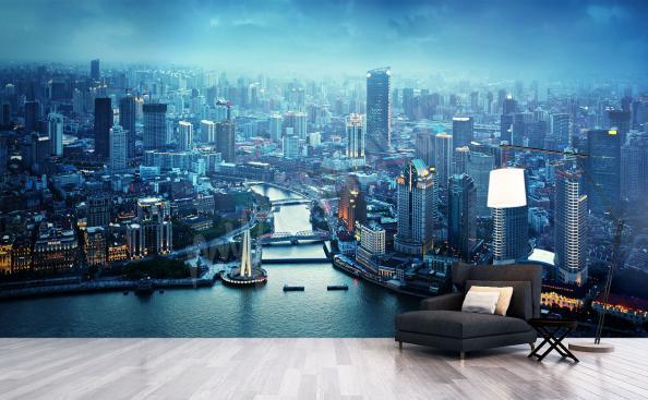 Fototapeta panorama Szanghaju