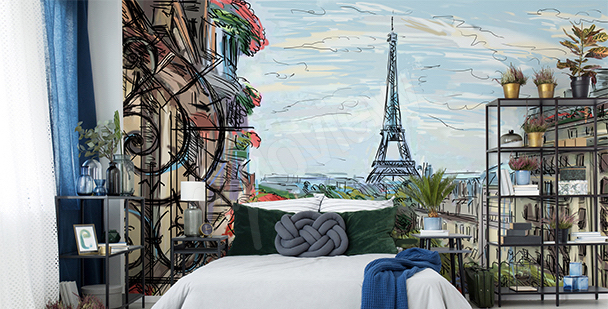 Fototapeta Paryż 3D