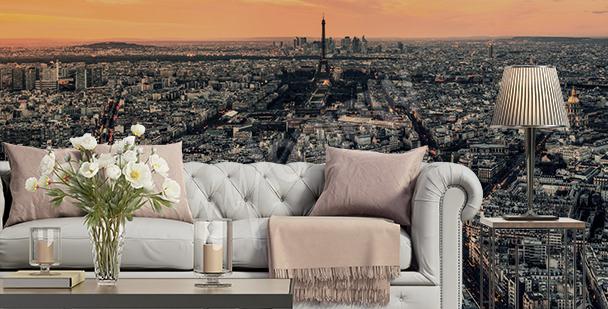 Fototapeta Paryż o zachodzie słońca