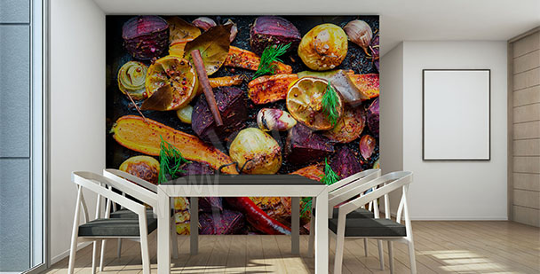 Fototapeta pieczone warzywa