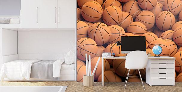 Fototapeta piłki koszykarskie 3D