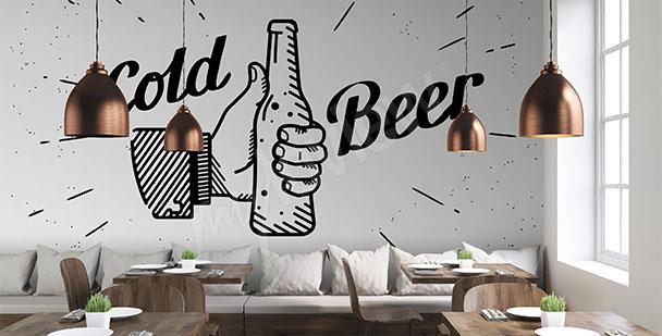 Fototapeta piwo czarno-biała