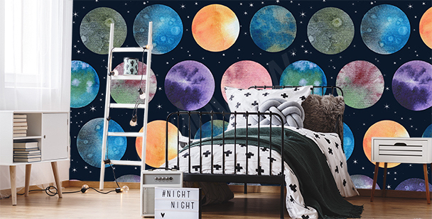 Fototapeta planety do sypialni nastolatka