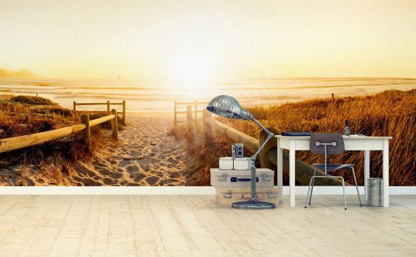 Fototapeta plaża zachód słońca