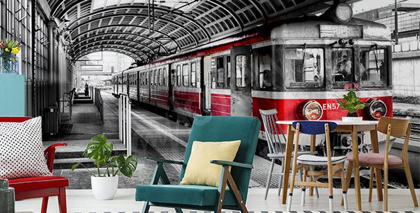 Fototapeta pociąg na dworcu