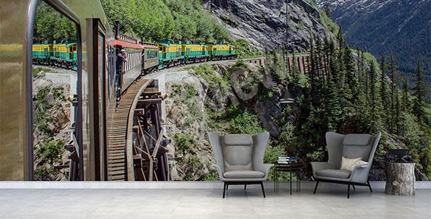 Fototapeta pociąg w górach