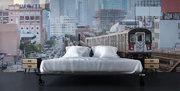 Fototapeta pociąg w Nowym Jorku