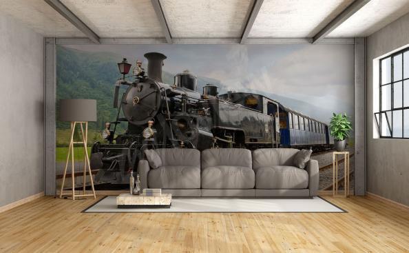 Fototapeta podróż pociągiem vintage
