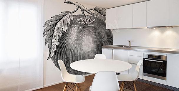Fototapeta pomidor czarno-biały