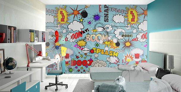 Fototapeta pop art pokój nastolatka