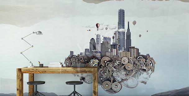 Fototapeta przestrzenna: futuryzm