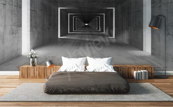 Fototapeta przestrzenna tunel do sypialni