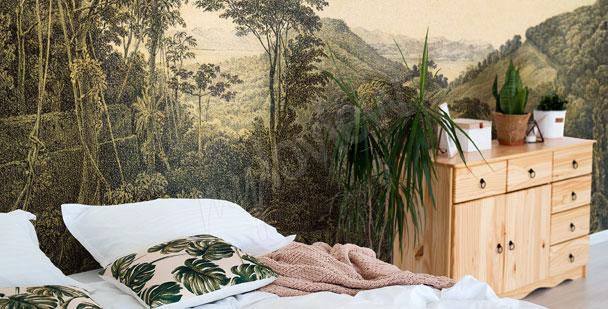 Fototapeta niebieskie rośliny do sypialni