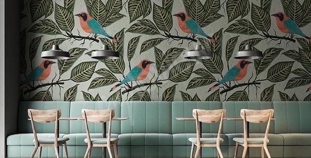Fototapeta ptaki wśród gałęzi