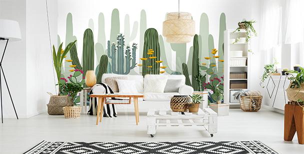 Fototapeta pustkowie z kaktusami