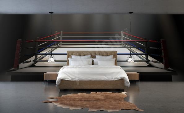 Fototapeta ring bokserski 3D
