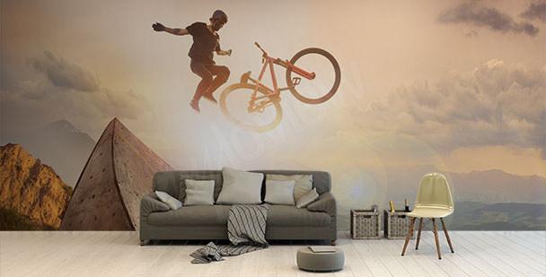 Fototapeta rower na tle nieba
