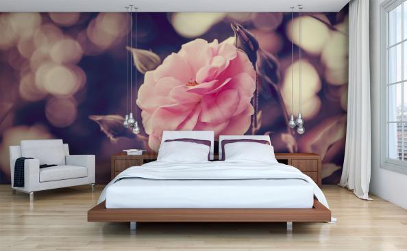 Fototapeta róża w sypialni