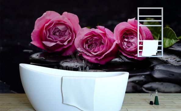 Fototapeta róże do łazienki