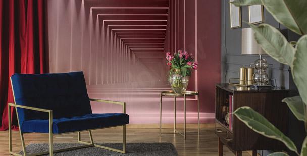 Fototapeta różowy korytarz