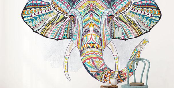 Fototapeta słoń styl etno