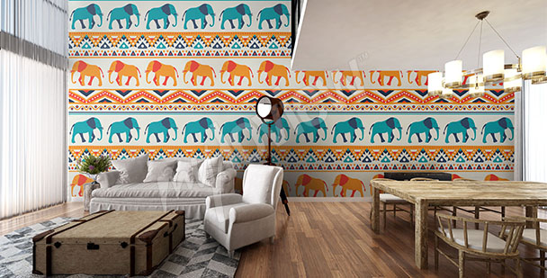 Fototapeta słonie do salonu