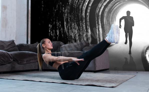 Fototapeta sprint przez tunel