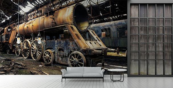 Fototapeta stary pociąg