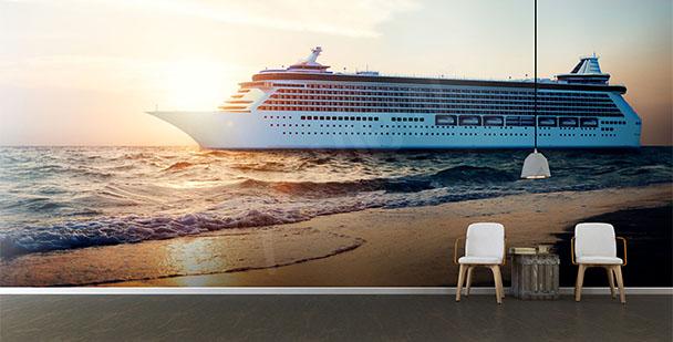Fototapeta statek i plaża