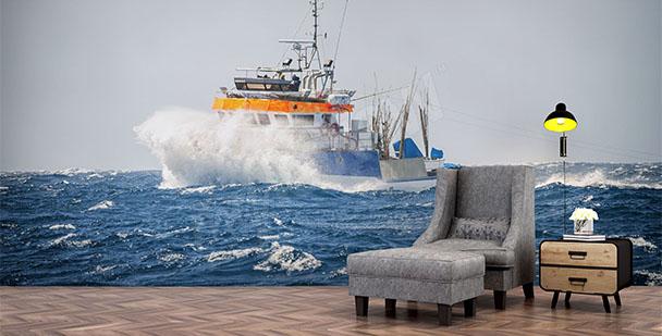 Fototapeta statek na morzu
