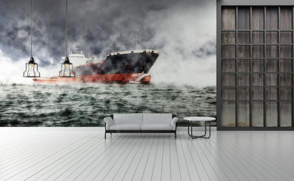 Fototapeta statek podczas sztormu