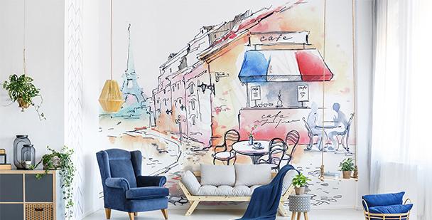 Fototapeta street cafe w Paryżu