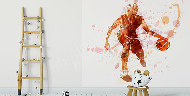 Fototapeta sylwetka koszykarza