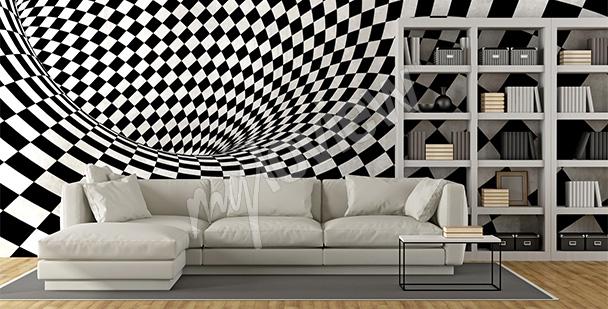 Fototapeta szachownica 3D