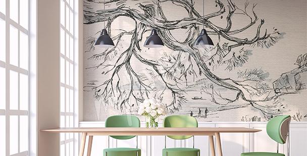 Fototapeta szkic drzewa
