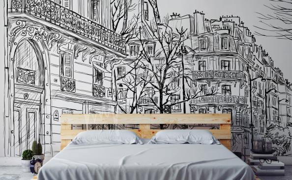 Fototapeta szkic miasta Paryż