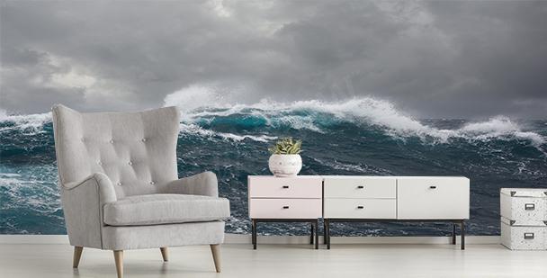 Fototapeta sztorm na morzu