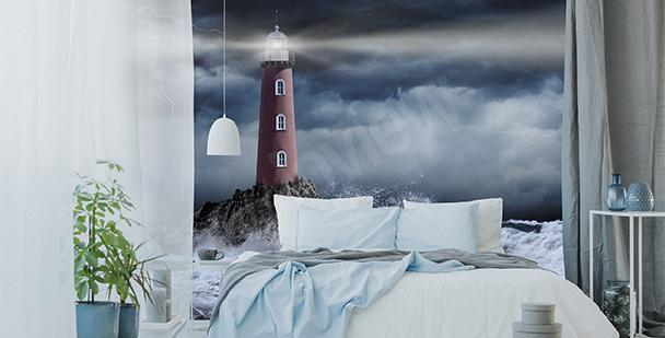 Fototapeta sztorm nocą
