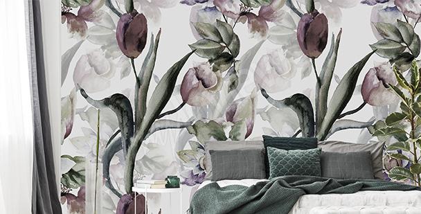Fototapeta kosz tulipanów