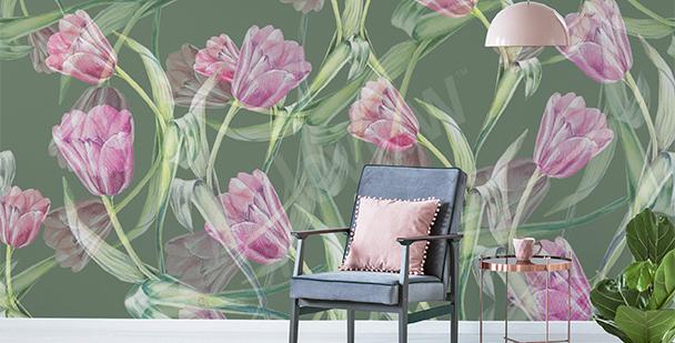 Fototapeta tulipany do salonu
